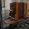 Close-up of antique hand crank movie camera, Portuguese Photography Centre, Vitoria, Porto, Northern Portugal, Portugal