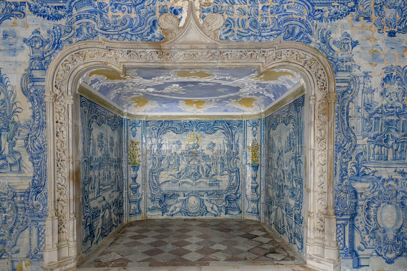 Interiors of Sintra National Palace, Sintra, Lisbon, Portugal