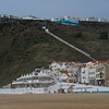 Tourists resort on the beach, Nazare, Portugal
