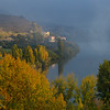 Autumn trees along Douro River, Lamego Municipality, Viseu District, Douro Valley, Northern Portugal, Portugal