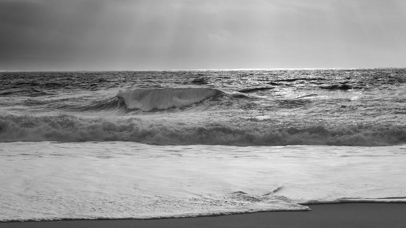 Scenic view of the beach, Nazare, Portugal