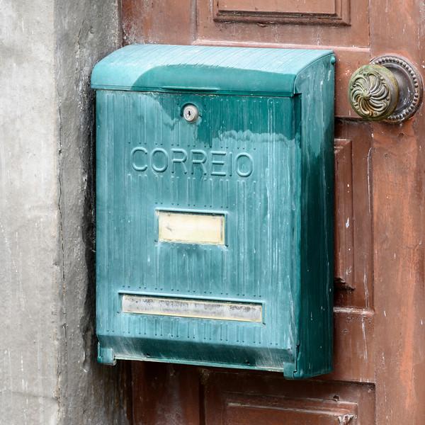 Close-up of a mailbox, Obidos, Leiria District, Portugal