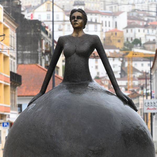 Close-up of a statue, Coimbra, Portugal