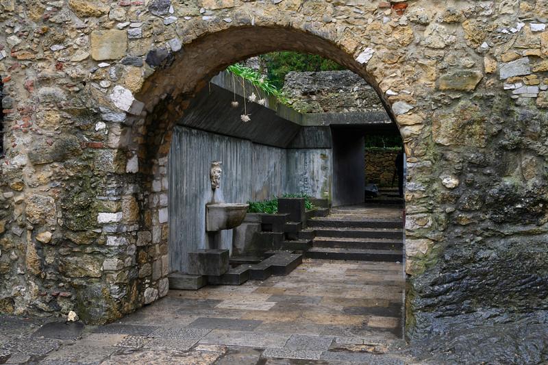 Entrance to St. George's Castle, Castelo, Lisbon, Portugal