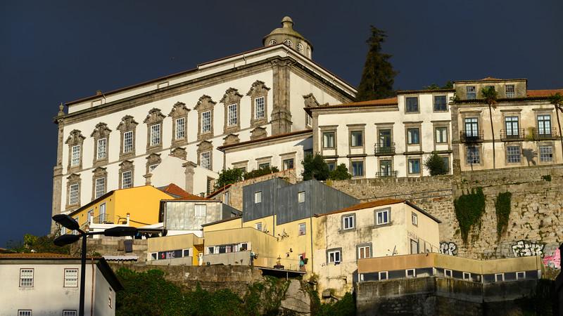 Low angle view of houses, Sao Nicolau, Porto, Portugal