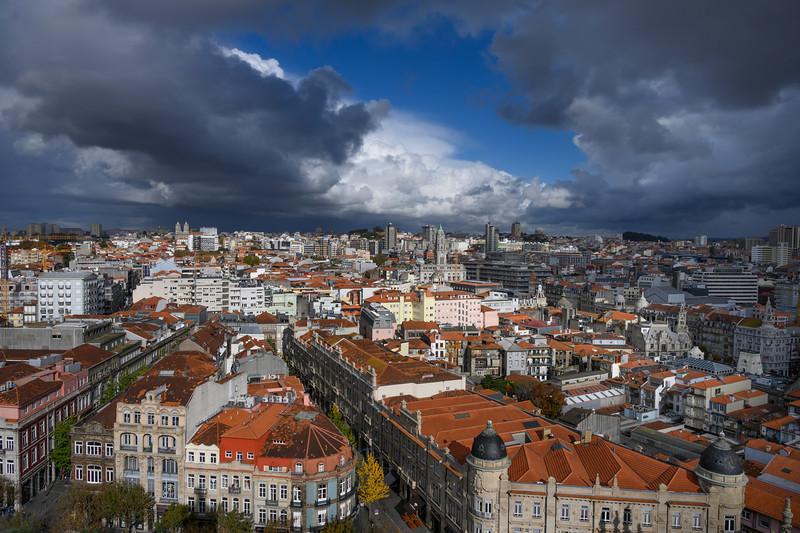 Aerial view of buildings in Vitoria, Porto, Portugal