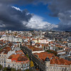 Aerial view of buildings in Vitoria, Porto, Portugal
