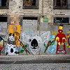 Street Art covered walls, Se do Porto, Porto, Northern Portugal, Portugal