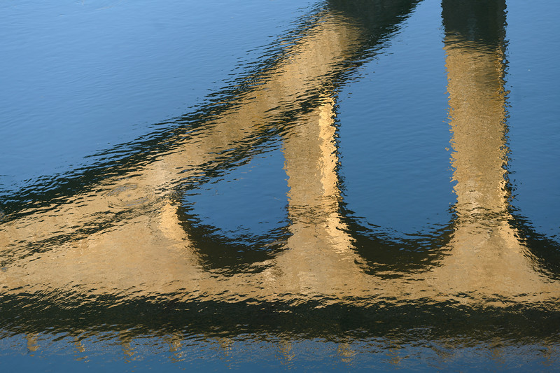 Reflection of bridge on water, Douro Valley, Portugal