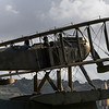 Replica of the biplane that first traveled the South Atlantic route, Santa Maria de Belem, Lisbon, Portugal,