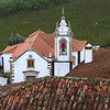Elevated view of a church, Obidos, Leiria District, Portugal
