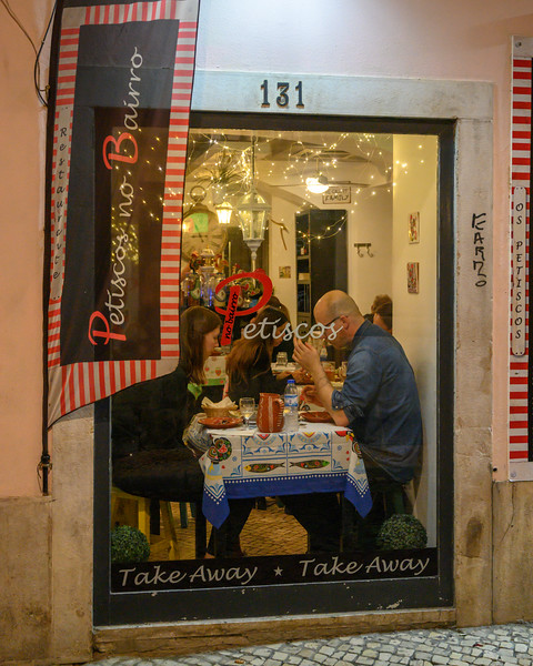 People at restaurant, Encarnacao, Lisbon, Portugal
