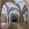 Interiors of a monastery, Alcobaca Monastery, Alcobaca, Portugal