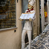 Statue of chef outside restaurant, Sintra, Lisbon, Portugal