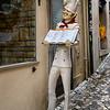 Statue of chef outside restaurant, Sintra, Lisbon, Portugal