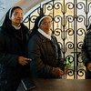 Nuns in church, Lisbon Cathedral, Lisbon, Portugal