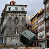 View of a sculpture in Ribeira Square, Porto, Portugal
