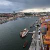 Aerial view of Douro River, Santa Marinha, Porto, Northern Portugal, Portugal