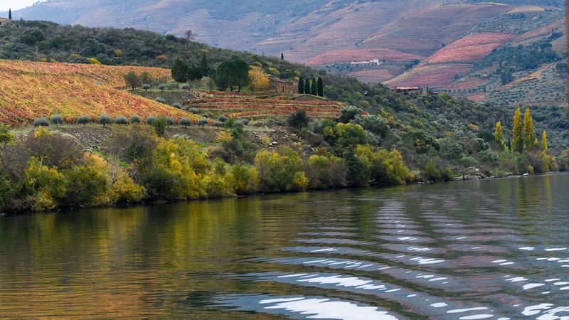 Scenic view of river, Douro River, Douro Valley, Portugal