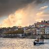 Boat in Douro River, Santa Marinha, Porto, Northern Portugal, Portugal