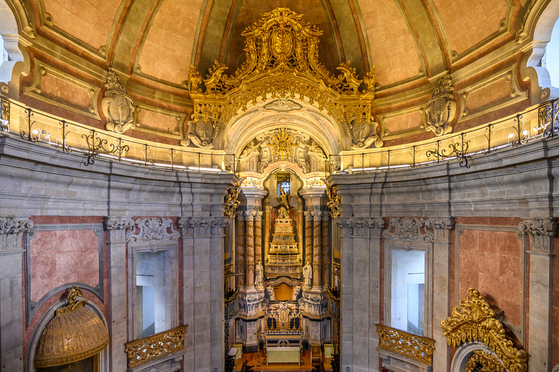 Interiors of church, Clerigos Church, Vitoria, Porto, Northern Portugal, Portugal