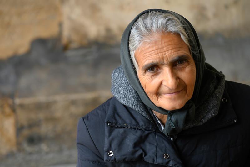 Portrait of an elderly woman, Santo Antonio church, Lisbon, Se, Lisboa Region, Portugal