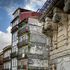 Low angle view of apartments in a city, Vit�ria, Porto, Portugal