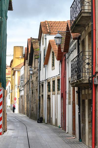 Houses along a narrow street, Santa Marinha, Ribeira De Pena, Porto, Portugal