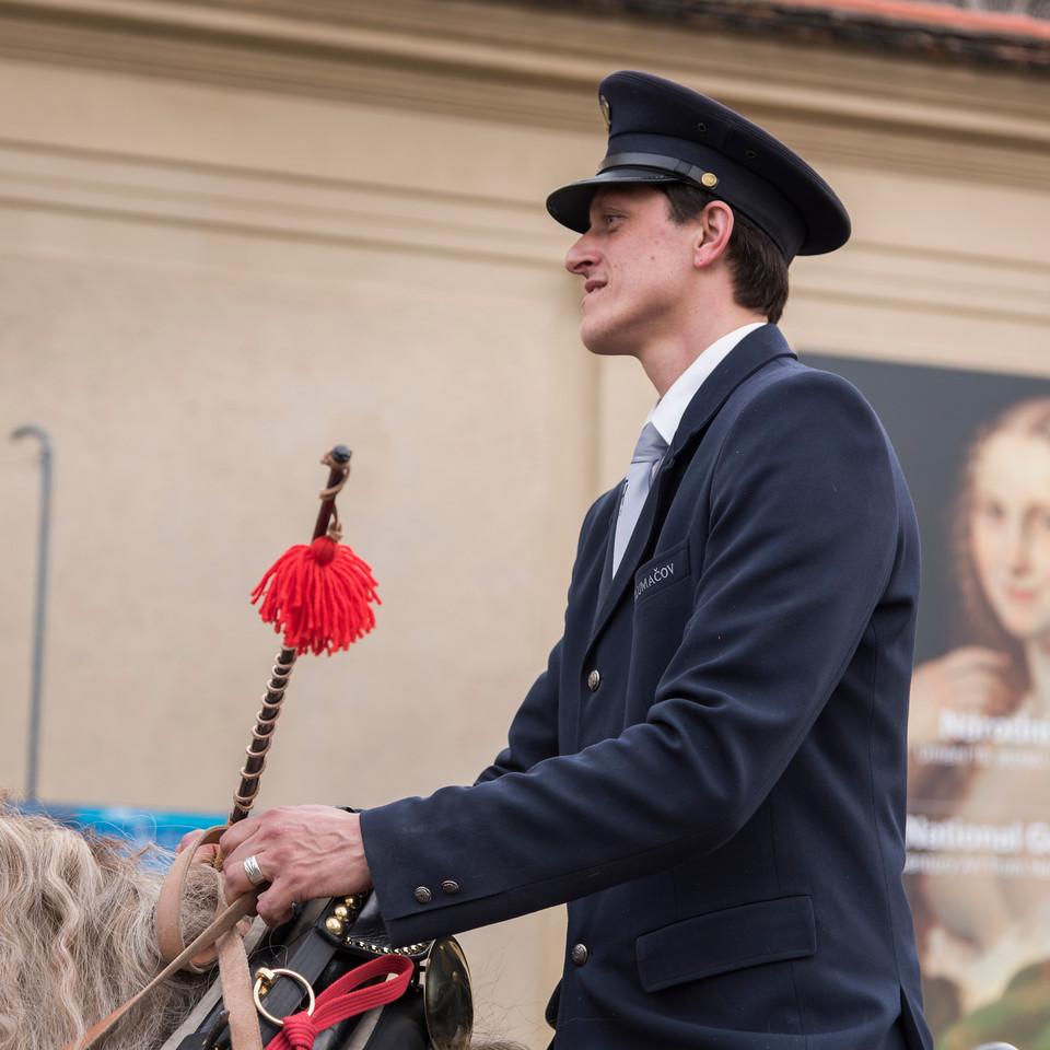 Honor guard riding horse, Prague, Czech Republic