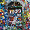 Graffiti on the Lennon Wall, Prague, Czech Republic