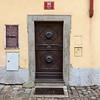 Closed door of a house, Prague, Czech Republic