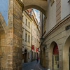 Buildings along a shopping street at Old Town Square, Old Town, Prague, Czech Republic