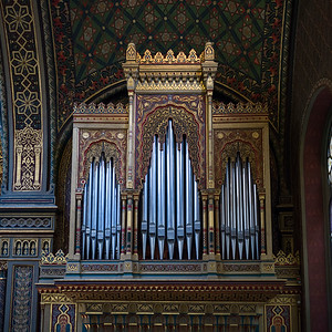 Pipe Organs in Spanish Synagogue, Jewish Quarter, Prague, Czech Republic