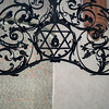 Detail of iron works in Pinkas Synagogue, Prague, Czech Republic