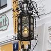 Close-up of illuminated electric lamp, Prague, Czech Republic