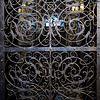 Close-up of metal gate, Old Town Square, Old Town, Prague, Czech Republic