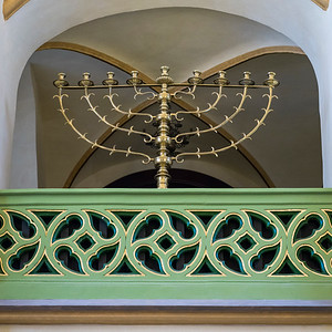 Menorah in Maisel Synagogue, Prague, Czech Republic
