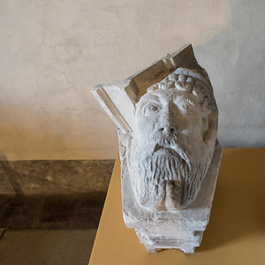 Close-up of a figurine, Old Royal Palace, Prague Castle, Prague, Czech Republic