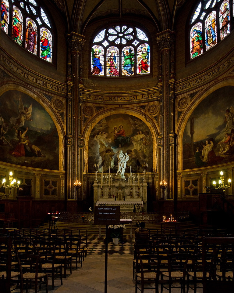 Chapel in St Eustache<br /> <br /> Paris, France