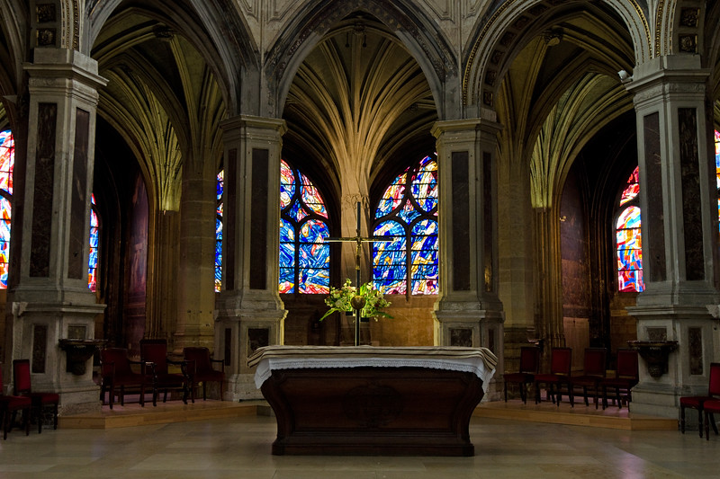 Altar at St Severine<br /> <br /> Paris, France