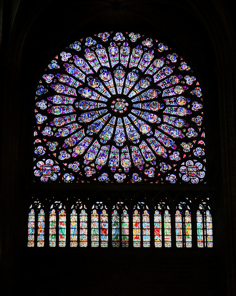 Rose WIndow, Notre Dame<br /> <br /> Paris, France