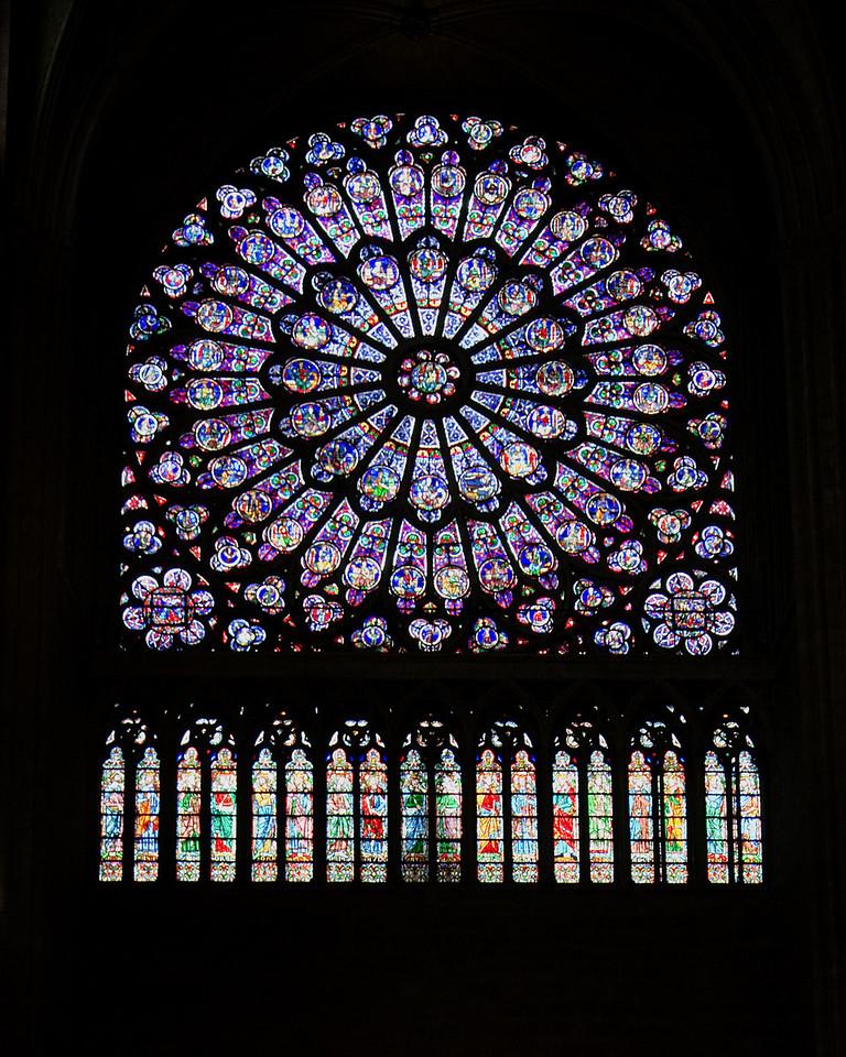 Rose WIndow, Notre Dame<br /> <br /> Paris, France