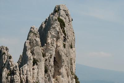 Rock climbing, Les Dentelles de Montmirail, Vaucluse