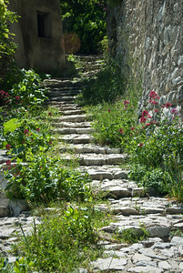 Stairs in the village of Brantes