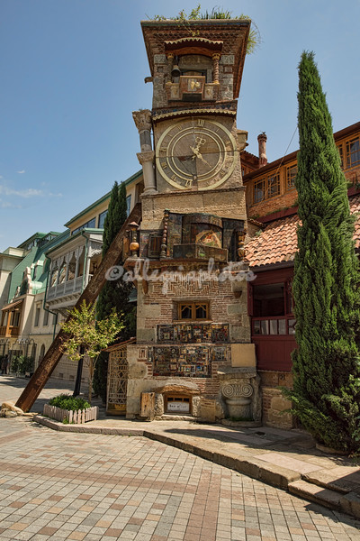 Leaning clock tower, Tbilisi