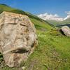 Face in the rock in Sno Valley, Kazbegi