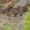Clearing a landslide, Tusheti National Park