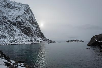 Scenic view of the sea, Lofoten, Nordland, Norway