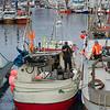 Fishing boats at harbor, Henningsvaer, Austvagoy, Lofoten, Nordland, Norway