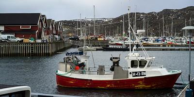 Fishing boats at harbor, Bodo, Nordland, Norway